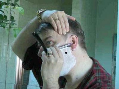 Опасной бритвой на своих руках