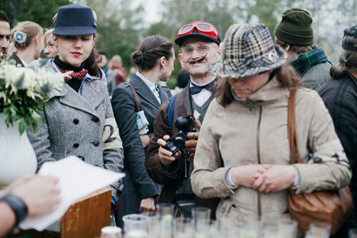 Бородачи и усачи на Tweed Ride Moscow